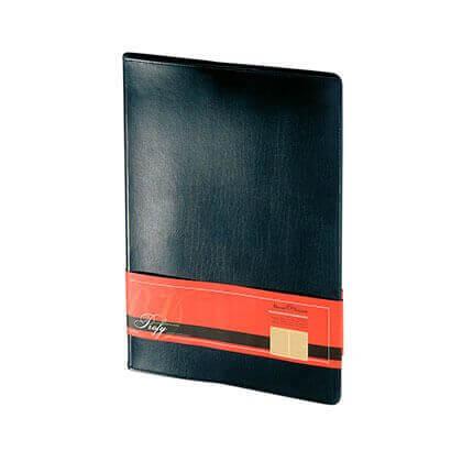 Еженедельник недатированный PROFY (АР), формат A4, обрез золото, бежевая бумага, цвет черный