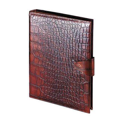 Папка с кольцевым зажимом и блокнотом с застёжкой KONGO (АР), формат A4, фактурная кожа, цвет бургунди