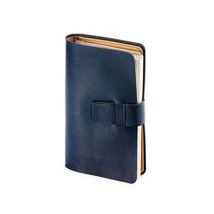 Ежедневник недатированный SIENNA, формат A6, бежевая бумага, в картонной коробке, цвет синий