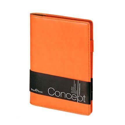 Еженедельник недатированный CONCEPT, с покрытием SOFT TOUCH, формат А5, бежевая бумага, цвет оранжевый