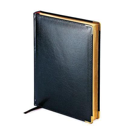 Ежедневник полудатированный IMPERIUM, формат A5, обрез золото, бежевая бумага, цвет черный