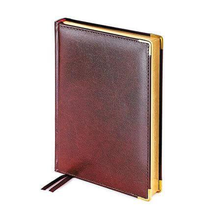 Ежедневник полудатированный IMPERIUM, формат A5, обрез золото, бежевая бумага, цвет коричневый