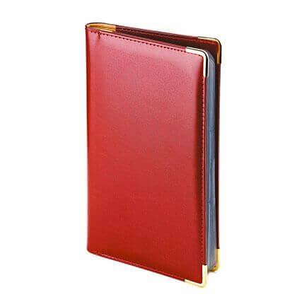 Визитница IMPERIUM, на 84 визитки, цвет бордовый