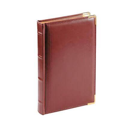 Ежедневник полудатированный BOSS, формат A5, обрез золото, белая бумага, цвет коричневый