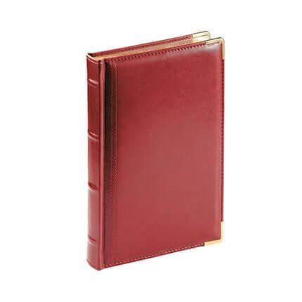 Ежедневник полудатированный BOSS, формат A5, обрез золото, белая бумага, цвет бордовый