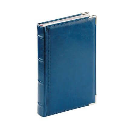 Ежедневник полудатированный BOSS, формат A5, обрез серебро, белая бумага, цвет синий