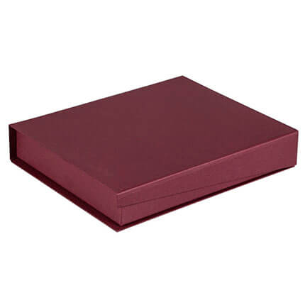 Коробка Duo для ежедневника формата A5 и ручки, цвет бордовый