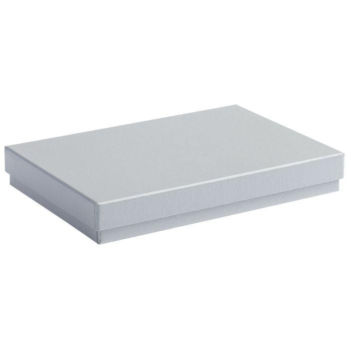 Коробка под ежедневник, формат A5, серебряная