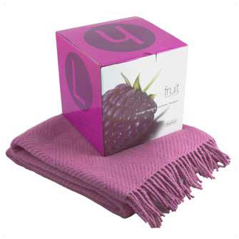 "Плед ""Малина"" (Fruit Essences), 135х170 см, фиолетовый"