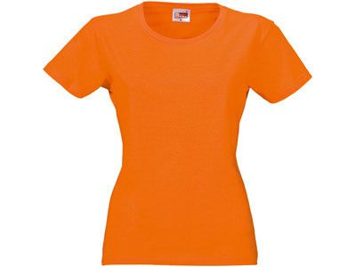 "Футболка женская ""Heavy Super Club"", цвет оранжевый, размер M"