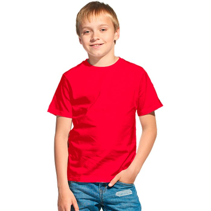 Футболка детская 06U Class, цвет красный, размер 10 лет