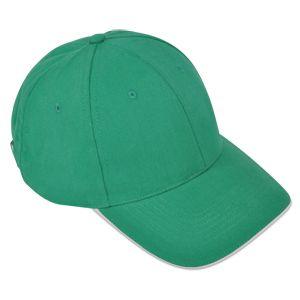 """Бейсболка """"Classic"""", цвет ярко-зеленый с белым кантом"""
