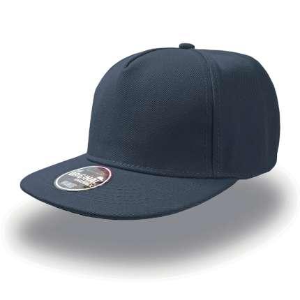 """Бейсболка """"SNAP FIVE"""" 5 клиньев, плоский козырек, пластиковая застежка пвх, цвет тёмно-синий"""