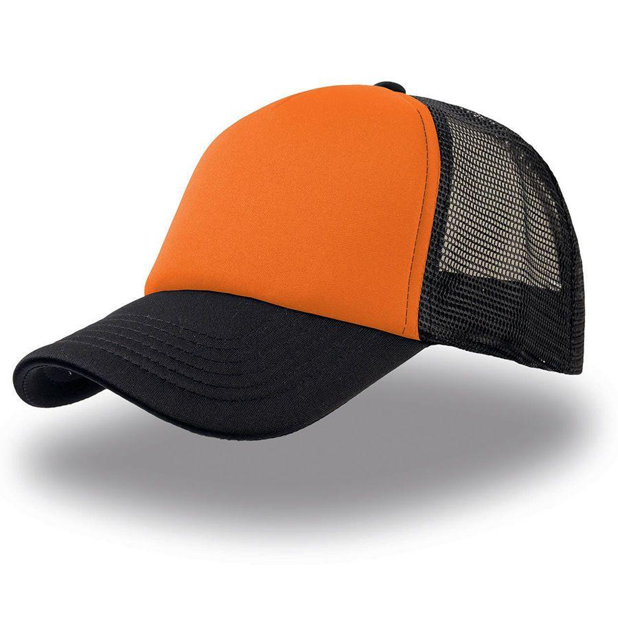"""Бейсболка """"Rapper"""", 5 клиньев, цвет оранжевый с чёрным"""