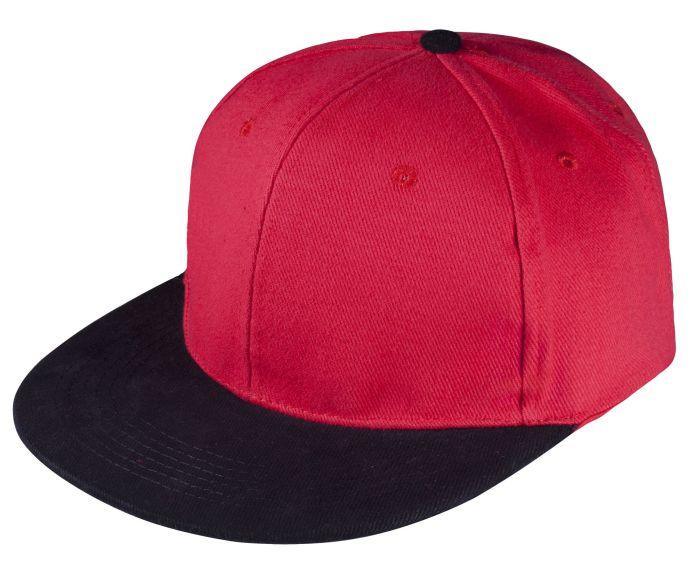Бейсболка Unit Heat с прямым козырьком, двухцветная, красная с черным