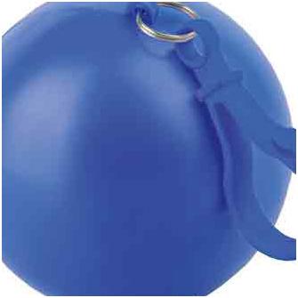 """Дождевик """"Универсал"""" прозрачный, цвет футляра в форме шара с карабином синий"""