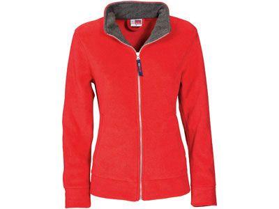 """Куртка флисовая """"Nashville"""" женская на молнии, цвет красный/пепельно-серый, размер L"""