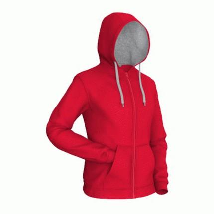 Толстовка мужская 17 Style, цвет красный с серым, размер XL