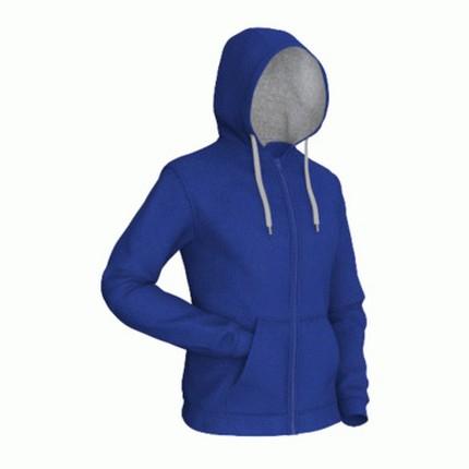 Толстовка мужская 17 Style, цвет синий (васильковый) с серым, размер XL