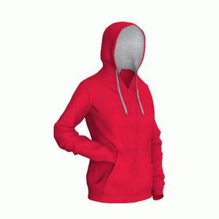 Толстовка женская 17W Style Woman, цвет красный с серым, размер M
