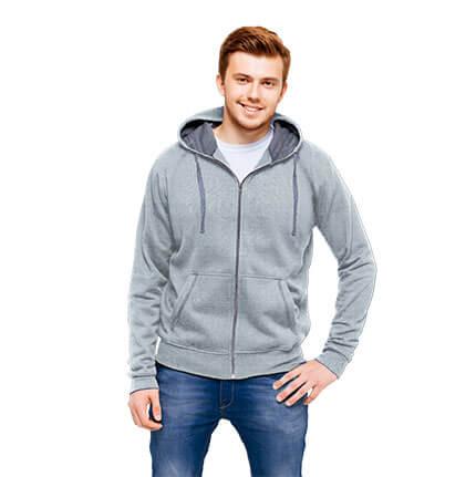 Толстовка мужская 61 Cool, цвет серый меланж, размер L