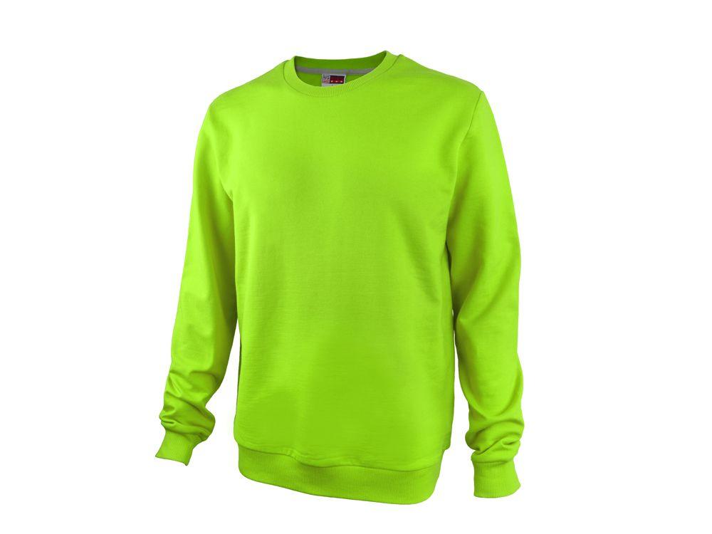 """Свитшот унисекс """"Motion"""" с начесом, цвет зелёное яблоко, размер L"""