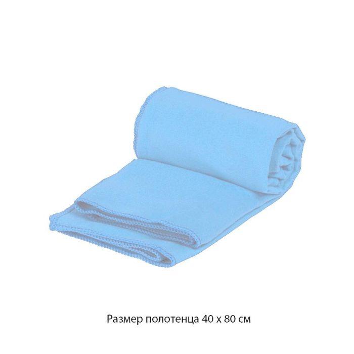 """Полотенце для фитнеса """"Тонус"""", 40х80 см, цвет голубой"""