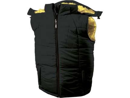 Жилет мужской, цвет чёрный/золотисто-жёлтый, размер M