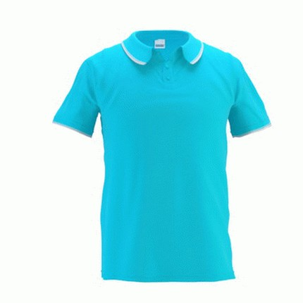Рубашка поло мужская 04T Trophy, цвет бирюзовый, размер L