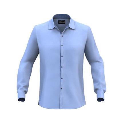 Сорочка мужская 46 Best, цвет светло-голубой, размер S