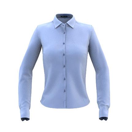 Сорочка женская 46W Best W, цвет голубой, размер M