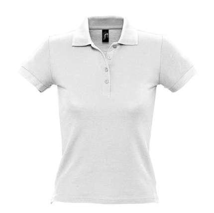 """Рубашка поло женская """"People"""", цвет белый, размер L"""
