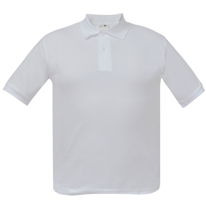 Рубашка поло мужская Short, цвет белый, размер M