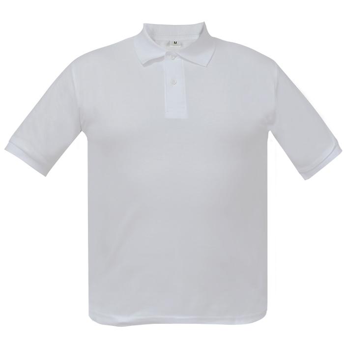 Рубашка поло мужская Short, цвет белый, размер L