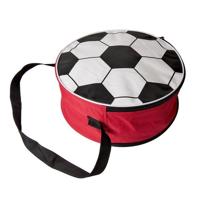 Сумка футбольная, цвет красный