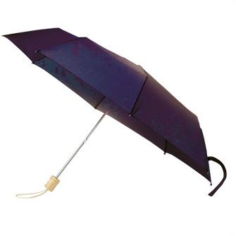 Набор: зонт складной с деревянной ручкой и флисовый шарф. Темно-синий 2767 С