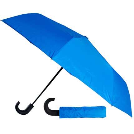 Зонт складной автоматический, резиновая ручка. В комплект входит чехол. Синий 285 С