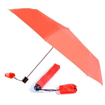 Набор: складной механический зонт с сумкой для покупок, красный