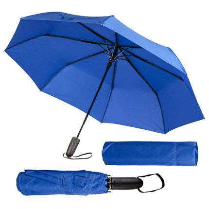 Зонт складной Magic с проявляющимся рисунком, синий