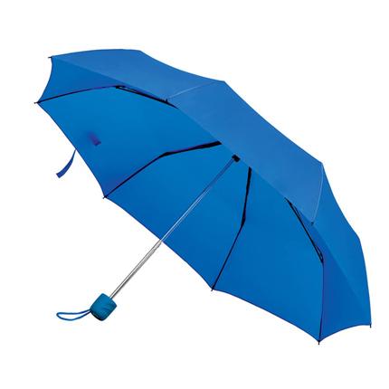 """Зонт складной """"Foldi"""", механический, цвет пластиковой ручки и купола синий"""