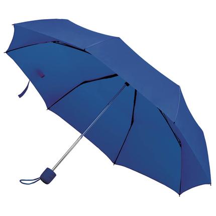 """Зонт складной """"Foldi"""", механический, цвет пластиковой ручки и купола тёмно-синий"""