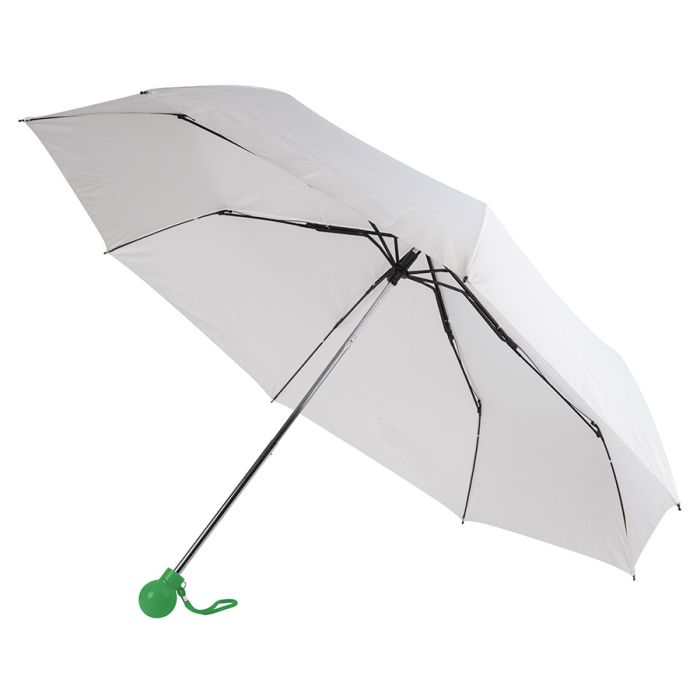Зонт складной FANTASIA, механический, цвет белый/зелёный