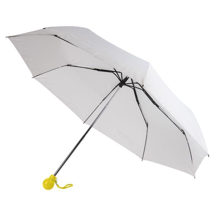 Зонт складной FANTASIA, механический, цвет белый/жёлтый
