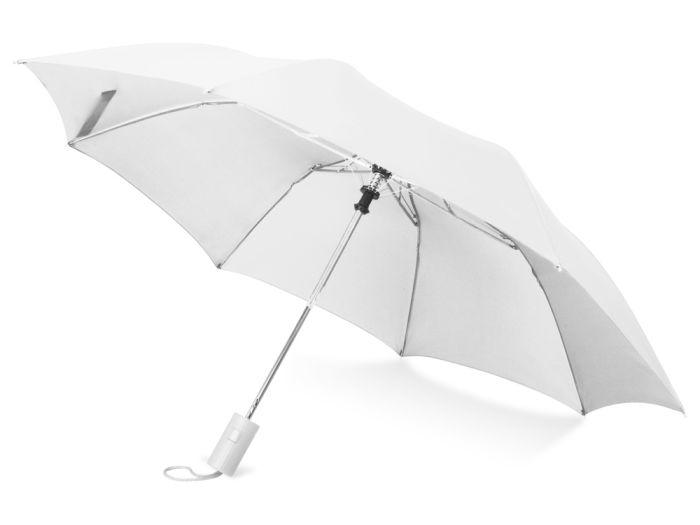 """Зонт складной """"Tulsa"""", цвет белый"""