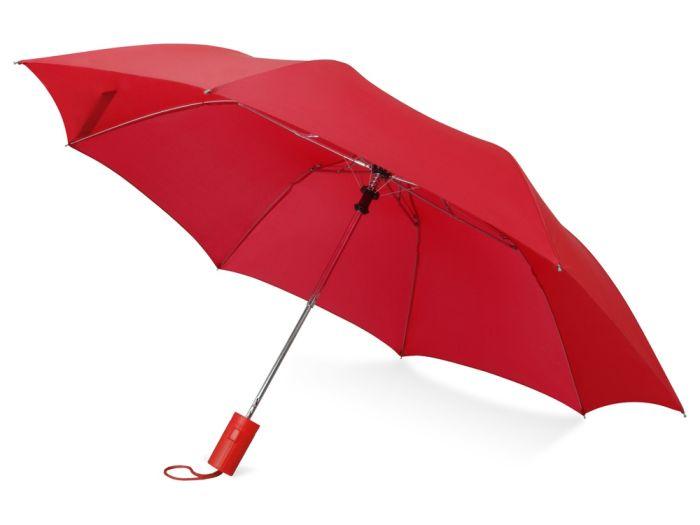 """Зонт складной """"Tulsa"""", цвет красный"""