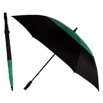 """Зонт-трость противоштормовой """"Monsun"""", механический, черный/зеленый 3308C"""