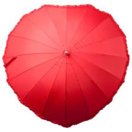"""Зонт-трость """"Сердце"""", красный"""