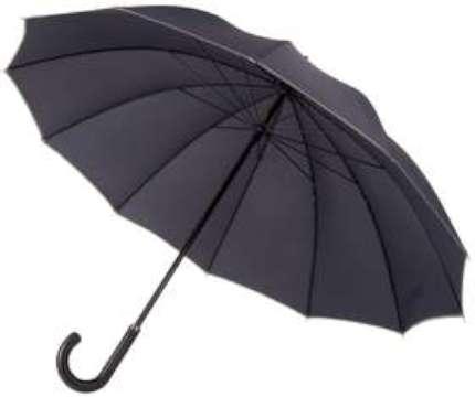 Зонт-трость механический Lui, чёрный
