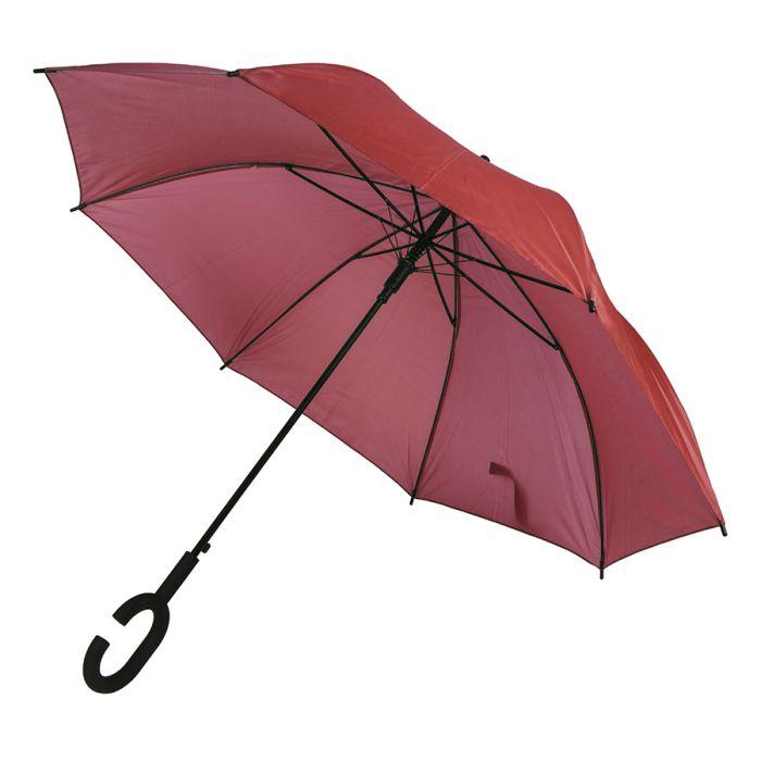 Зонт-трость HALRUM, полуавтомат, ручка с покрытием SOFT TOUCH, цвет красный
