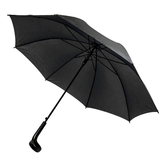 Зонт-трость LIVERPOOL с ручкой-держателем, полуавтомат